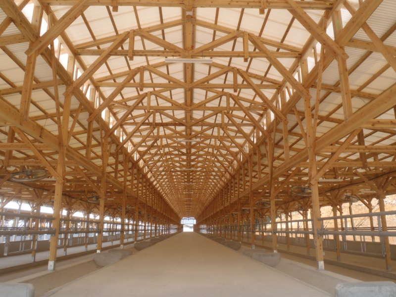 木造の牛舎